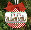 Christmas Ornament – Personalized Family with Custom Characters - The Golf Family
