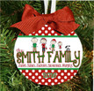 Christmas Ornament – Personalized Family with Custom Characters - The Family