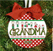 Christmas Ornament – Personalized Grandma / Grandpa with Custom Grandkids Characters