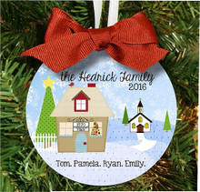 Christmas Ornament – Personalized Family Church Home for the Holidays