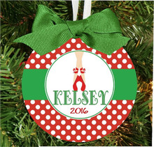 Christmas Ornament - Personalized Girls Ballet Ballerina