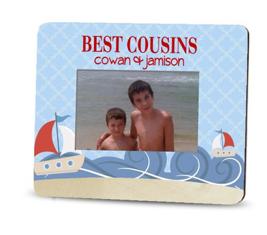 Picture Frame – Personalized cousins / Sailboat