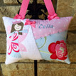 girls tooth fairy pillow in Pottery Barn Kids Bailey rose floral