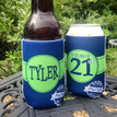 Birthday Coolie Koozie Personalized for Can or Bottle – 21st - legally drunk