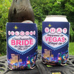 Bachelorette Coolie Koozie Personalized for Can or Bottle – What Happens in Vegas