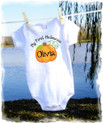 Baby girls t shirt onesie - personalized - Halloween pumpkin