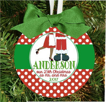 Christmas Ornament – Personalized Our First Christmas as Mr. and Mrs. Santa Claus - anniversary