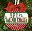 Christmas Ornament – Personalized Family with Custom Characters - Our Family - Quatrafoil