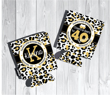 Koozies - Cheers and Beers - Leopard Print