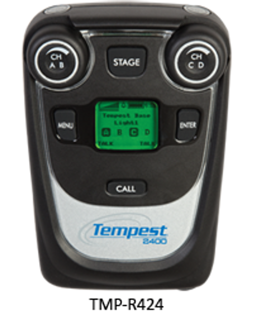 Tempest / Pliant TMP-R424 2.4GHz 4 Channel/2 Listen BeltStation