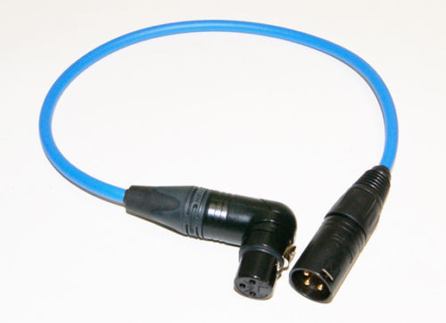 "TAI Audio 10"" Inch XLRF (RA) - XLRM Cable Blue"
