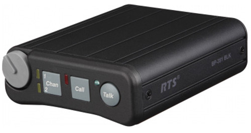 RTS BP351 5PIN BLACK Dual Channel Portable Metal Beltpack
