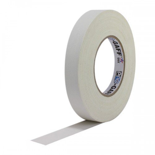 TAI Audio #510 1 in. White Cloth Gaffers Gaff Tape