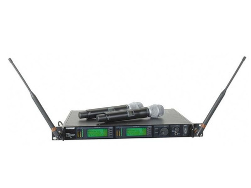 Shure UR24D/Beta87A Dual Handheld Wireless System G1 	(470.12 - 529.87 MHz)