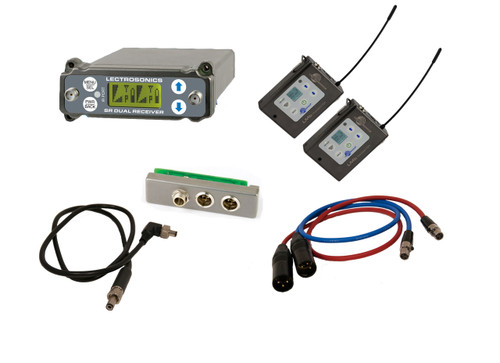 Lectrosonics SRC Kit W/ 2x LMb Transmitters, SREXT, Output Cables and BDS Cable, B1 (537.600 - 614.375 MHz; Blocks 21, 22 & 23)