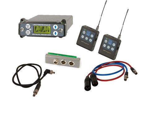 NEW Lectrosonics SRC Receiver & (2) Demo LT Transmitters w/ SREXT, Output Cables and BDS Cable: B1 (537.600 - 614.375 MHz Blocks 21, 22 and 23)