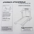 Pro FormTreadmill User's Manual PFTL31105 350