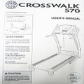 Golds Gym Treadmill Users Manual CROSSWALK 570