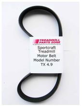 Sportcraft Treadmill Motor Belt Model Number TX 4.9