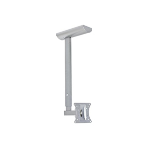 Ceiling Mount for LCD TV/Monitor, Good for LCD up to 30 inch, Max. Load 44 lbs, 20 degree Tilt, 190 degree Swivel, Silver