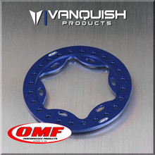 OMF 2.2 Scallop Beadlock Blue Anodized