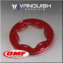 OMF 2.2 Scallop Beadlock Red Anodized