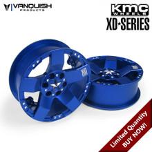 KMC XD775 Rockstars Blue Anodized