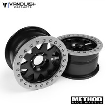 "Method 2.2 Race Wheel (1.2"" Wide) 101 Black/Clear Anodized"