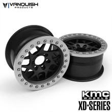 "KMC 2.2 XD127 Bully (1.2"" Wide) Black/Clear Anodized"