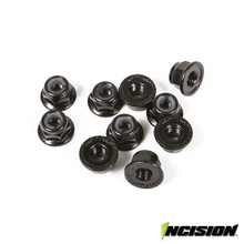 4mm Flanged Wheel Lock Nuts (10)