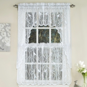 ... Songbird Lace Kitchen Curtain   White ...