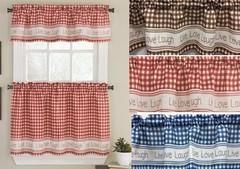 gingham stitch kitchen curtains