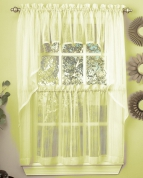 harmony sheer kitchen curtains pale yellow