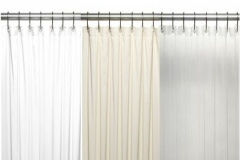 Stall Size Vinyl Shower Curtain Liner ...