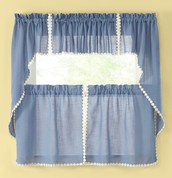 ... Andrea Kitchen Curtains   Colonial Blue ...