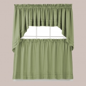 ... Holden Solid Kitchen Curtains   Sage Green ...