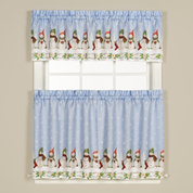 winter wonderland christmas kitchen curtains