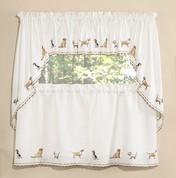 ... Dogs Embroidered Kitchen Curtains ...