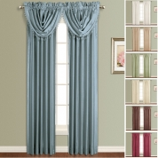 anna faux silk rod pocket curtains