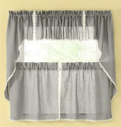 Good ... Andrea Kitchen Curtains   Gray ...