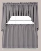 ... Holden Solid Kitchen Curtains   Grey ...