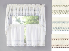 ... Beverly Embroidered Kitchen Curtains ...