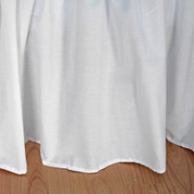 "Broadcloth Bedskirt King - 14"" drop"