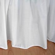 "Broadcloth Bedskirt King - 18"" drop"