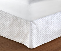 "Diamond Bedskirt Full - 18"" DROP"