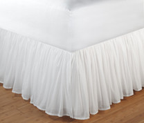 "Voile Bedskirt King - 15"" DROP"