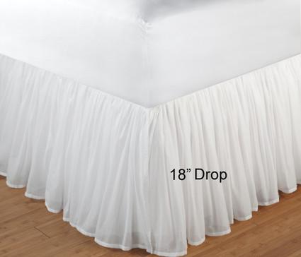 Voile Bedskirt Queen 18 Quot Drop Linens4less Com