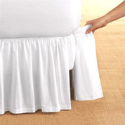 Detachable Bedskirt Dust Ruffle - White