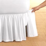 Detachable Bedskirt Dust Ruffle - White