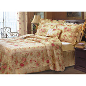 Antique Rose Quilt SET Twin